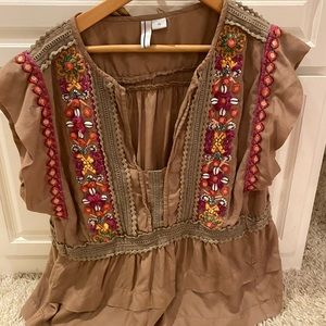 Detailed Anthropologie blouse